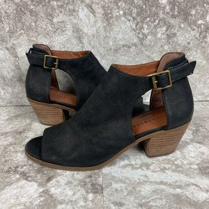 Lucky Brand BARIMO Bootie Black Leather Size 9